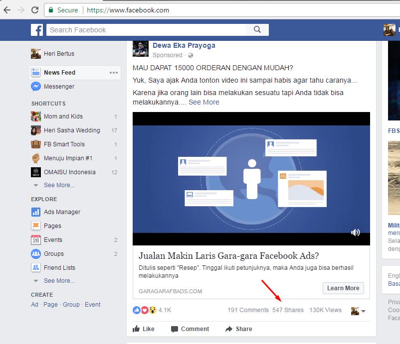 belajar bisnis online   Facebook
