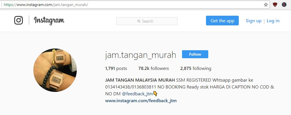 optimasi akun instagram